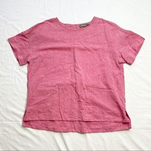 Sussan Pink Linen Cotton Top